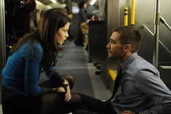 Michelle Monaghan and Jake Gyllenhaal in Source Code.