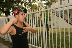 Hector Serna was walking his three dogs when he saw Martin retrieve the knife he used to stab Hipolito Hernandez in the neck.