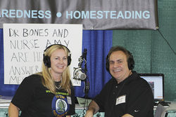 """Nurse Amy"" and ""Dr. Bones"" host a popular prepper podcast."