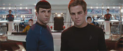 Zachary Quinto (left) and Chris Pine in Star Trek
