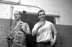 """Act like a mannequin"": Matt Walsh, left, and Ian Roberts wrote and star in Martin & Orloff. This picture is about all you're likely to see of it any time soon."