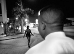 Biscayne Boulevard, June 2000: It's well-known for prostitutes and cops, but even some men with reputations to protect find the street irresistible