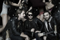 Mafia members: Axwell (left), Sebastian Ingrosso, and Steve Angello.