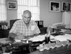 Bay of Pigs veteran Santiago Alvarez, in his Hialeah war room, advocates armed struggle against the Castro regime