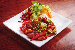 Manchurian fried tofu starter at Thali. View our Thali Indian & Thai Cuisine slide show.