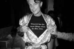 Nightlife impresario Rudolf Piper, circa 1985 -- just one 