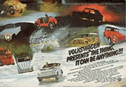 Singing The Thing's praises: A 1973 advertisement sells VW's unwieldy The Thing