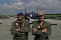 Best friends Gary Pope (left) and Samuel Sax have been  flying together for sixteen years