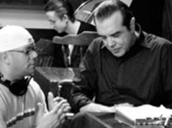 The men of Severe Pictures cut up in their Hollywood studio with Chazz  Palminteri