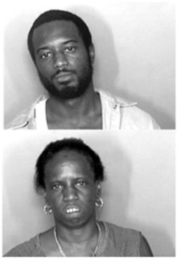 Verneka Lee; above; at top, son and murder suspect  Anthony Craig Lee