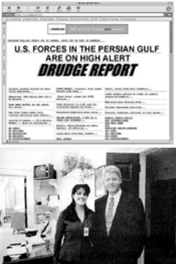 Bill and Monica may be history but the Drudge Report dishes on