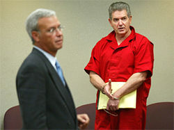 John Connolly pictured with one of his attorneys, Manny Casabielle