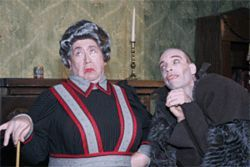 John Felix (left) and Tom Wahl portray all of the play&#039;s eight characters