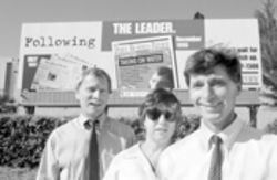 June 1997: Wasserman and staffers Susan Postlewaite and Dan Cook, who exposed Port of Miami mismanagement, used a billboard to put it in the Herald's face