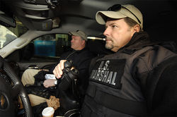 U.S. Marshals Vincent Senzamici and Commander Lenny DePaul caught up with Alfaro in New York.