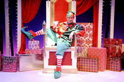 Michael McKeever as Crumpet in The Santaland Diaries at the Arsht Center.