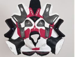Brian Jungen's Prototype for New Understanding #23, made from Air Jordans.