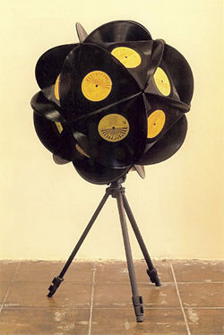 Sean Duffy&#039;s Burn out Sun, made from Sun Records LPs.