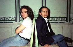 Estefano's albums with Donato (right) were the songwriter's most succesful. He also collaborated with Julio Iglesias and Jennifer Lopez.