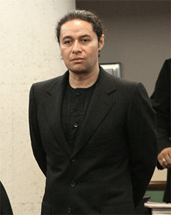Estefano (pictured) sued his former business manager for orchestrating the shooting to cover up the theft of millions of dollars from the songwriter.