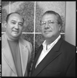 Two of Metro-Dade's finest, José Diaz and Raul Diaz, call for more cooperation between law-enforcement agencies