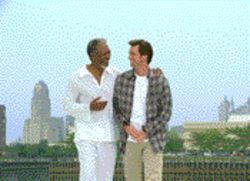 The return of Jim Carrey, blaming it all on God, er, Morgan Freeman