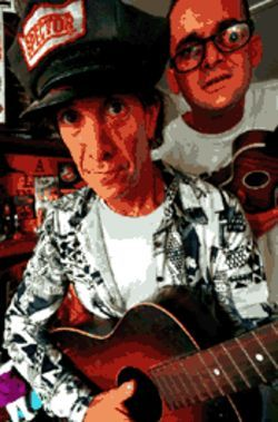 Specters of Woody Guthrie: Boise Bob (left) and Mr. Entertainment