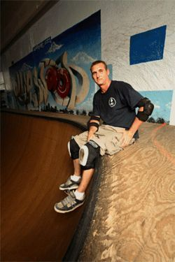 Even at age 41, Robbie skates every week at Olliewood