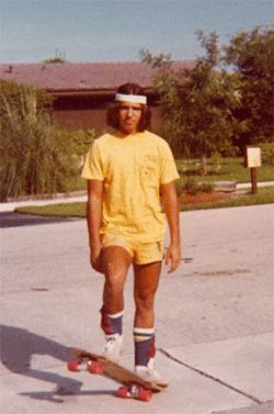 Robbie's first glimpse of his lifelong obsession came when  he saw Robert Rodrigues (shown here) skating in the street