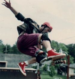 Robbie was inspired to skate by friends like Monty Nolder 