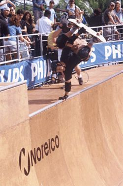 During a single day in 2001, Robbie hit his highest high  (competing against legendary skaters like Lance Mountain  and Tony Hawk at the Soul Bowl in Coconut Grove)