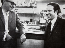 Jean-Luc Godard (left) and François Truffaut