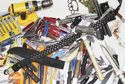 A week's worth of confiscations at Miami International Airport.