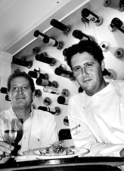 Salero&#039;s chef Jordi Valls (right), with owner Larry Harris, respects but is not restrained by tradition