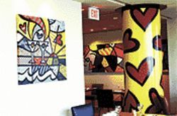 Color me Britto, and all over the restaurant already!