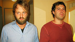 Humpday stars Joshua Leonard (left) and Mark Duplass
