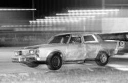 Metal heaps like this Oldsmobile are the norm at the Hialeah Speedway, where all that matters  is a good engine and  large doses of adrenaline.