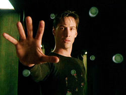 Keanu Reeves stars as Neo in the Wachowskis&#039; iconic film The Matrix.