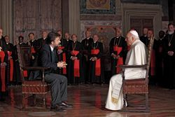 Nanni Moretti and Michel Piccoli in We Have a Pope.
