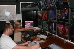 The Pink TV control room