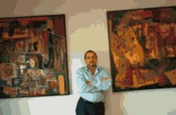 Art for art's sake? Developer José Fernandez shows off the work of Rigoberto Mena