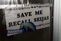Even manatees want Seijas out!