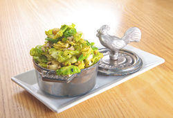 Yardbird's Brussels sprouts leaves. View more photos of Yardbird.